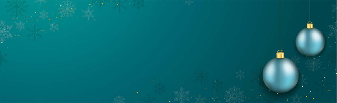 Christmas Header Turquoise 2 Baubles