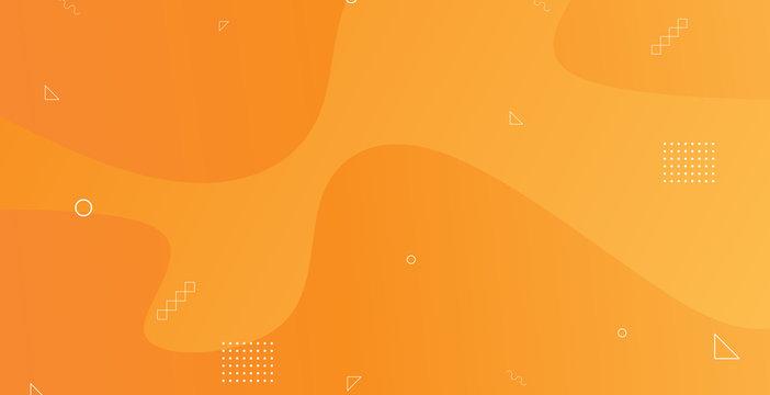 Liquid abstract background orange colors. simple shapes vector eps 10. Futuristic minimalist. Geometric element decoration.
