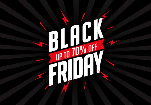 Retro background with design and text Black Friday.