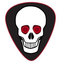 Human Skull Guitar Pic