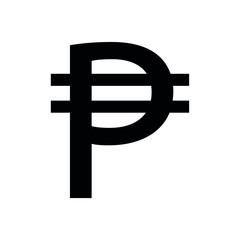 philippine currency icon. Pesos Sign  vector