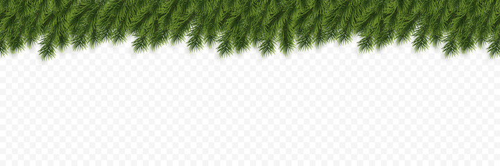 Festive Christmas or New Year Background. Christmas Tree Branches. Holiday's Background. Vector illustration