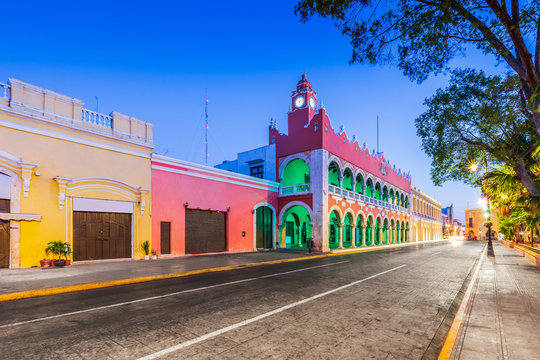 Merida, Mexico. City hall in the Old Town.