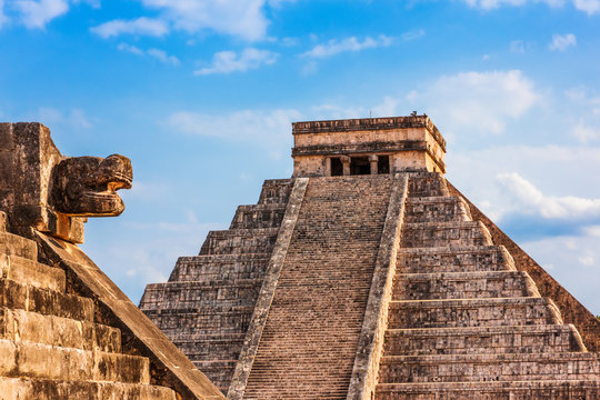 Chichen Itza, Mexico. Temple of Kukulcan