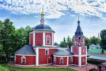 Suzdal, Russia - Suzdal, 2017: Church of the Assumption of the Blessed Virgin Mary