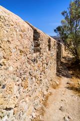 Ruins of Castel Selino in Paleochora, Crete island, Greece