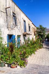 Paleochora streets and building in Crete island, Greece
