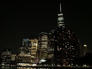 Lower Manhattan's skyline.