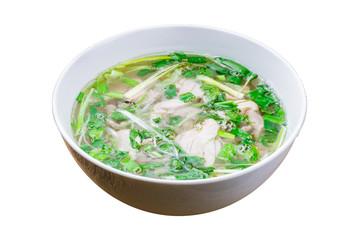 Fototapeta Vietnamese soup Pho GA on white background isolated obraz