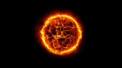 Solar energy abstract background. Fire ball. Sun illustration.