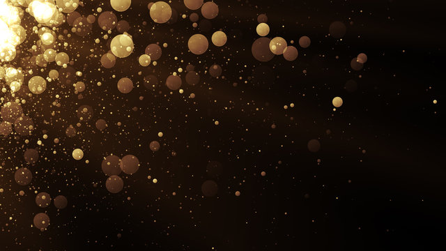 Glamour background with glitter sparks. Shiny texture with magic golden dust.