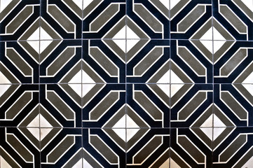 Blue, white and grey geometric pattern