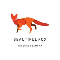 Modern Line art Fox logo design inspiration