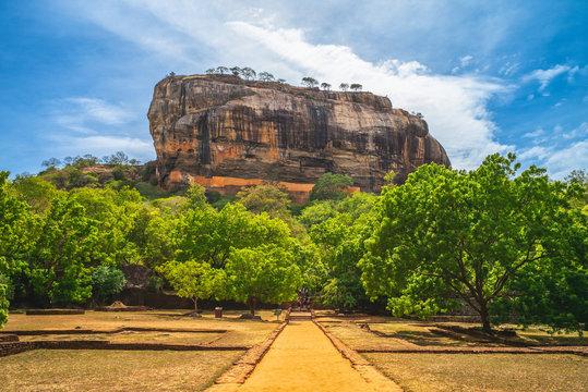sigiriya, lion rock, ancient fortress in sri lanka