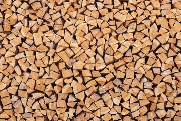 Photo sur Aluminium Texture de bois de chauffage pile of wood background texture