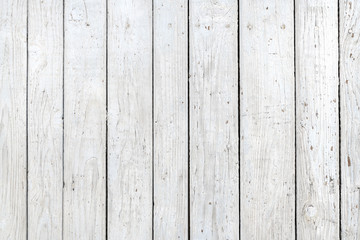 Wall Mural - White wooden planks background