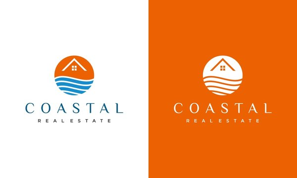 Unique, modern and clean logo design of real estate business with white background - EPS10 - Vector.