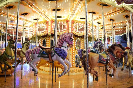 A Classic Carousel in a Fair 2
