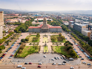 Wall Mural - Aerial view of Tshwane city hall in the heart of Pretoria, South Africa