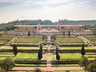 Aerial view of Nelson Mandela Garden and Union Buildings, Pretoria, South Africa