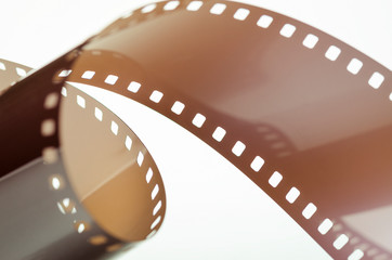 Glossy film on white abstract background