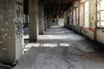 Corridor in an abandoned building