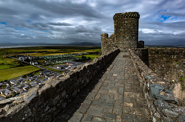 Harlech Castle in Wales, Great Britain, United Kingdom