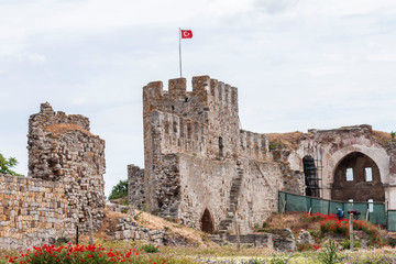 Historic castle in the enez county of Edirne