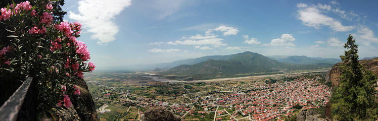 View from Meteora monastery into valley