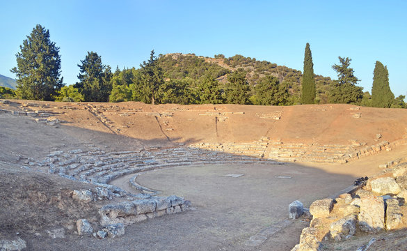the ancient theater of Eretria Euboea Greece
