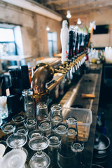 Draft Beer Bar, Detail Of Glasses.