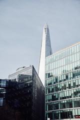 Elegant skyscraper in city downtown