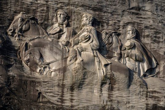 Confederate Carving, Stone Mountain Park, Georgia
