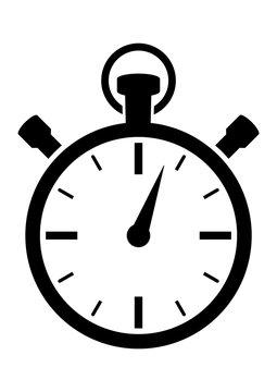 gz491 GrafikZeichnung - german - Stoppuhr: english - timer / stop watch icon: fast time - simple template - DIN A4 - poster xxl g8570