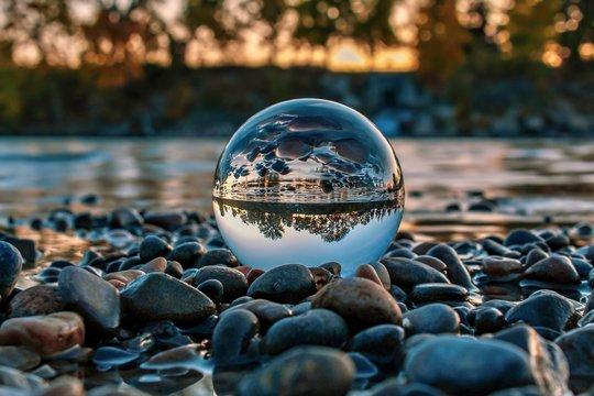 Lensball On The Rocks