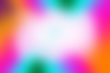 A blurry rainbow colored border background.