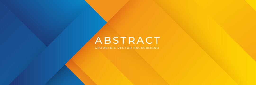 Geometric blue and orange background. Abstract background with blue and orange gradient composition. Eps 10 vector background.