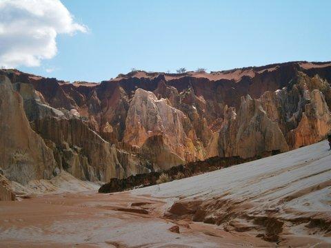 Madagascar Ankarafantsika National Park Ankarokaroka Lavaka sandstone formations
