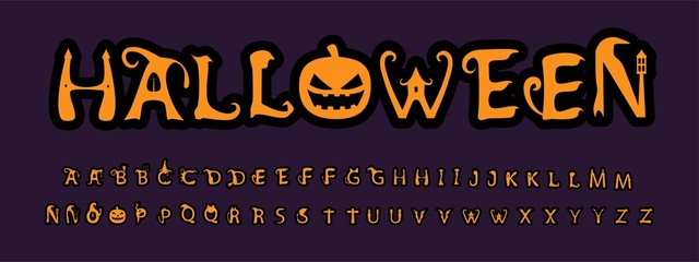 Unique font for the holiday Halloween.