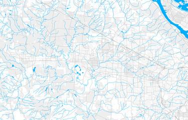 Rich detailed vector map of Hillsboro, Oregon, USA
