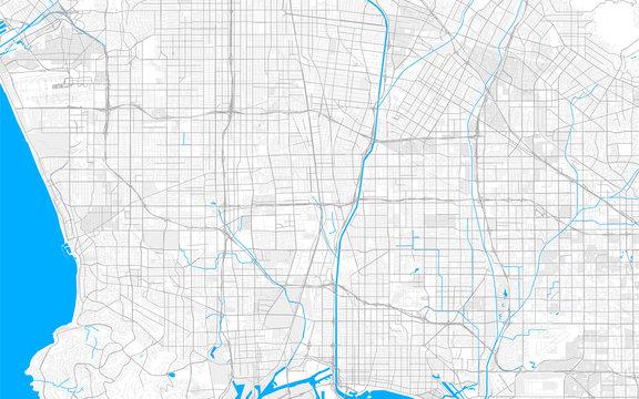Rich detailed vector map of Compton, California, USA