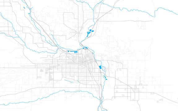 Rich detailed vector map of Yakima, Washington, USA