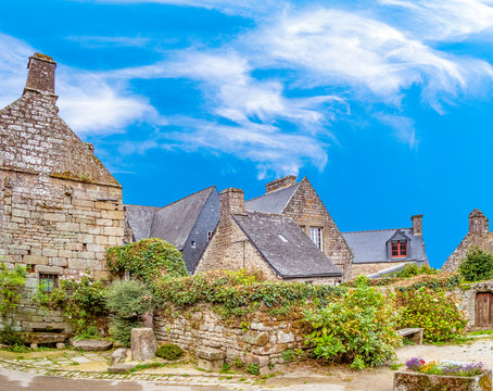 beautiful houses in Locronan, France