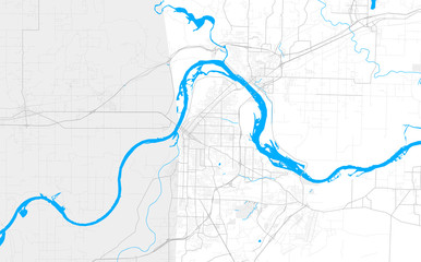 Rich detailed vector map of Fort Smith, Arkansas, USA