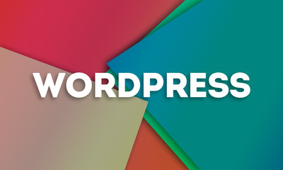 Wordpress - word written on colorful paper cards background