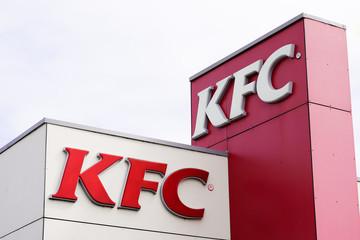 KFC restaurant sign fried chicken fast food chain restaurant