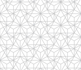 Ingelijste posters Geometrisch The geometric pattern with lines. Seamless vector background. White and grey texture. Graphic modern pattern. Simple lattice graphic design.