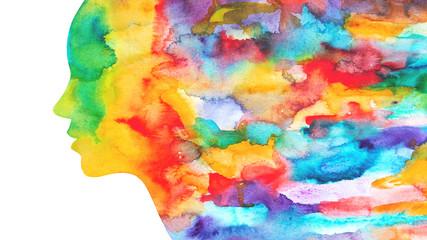 Acquerello colorato donna autunno