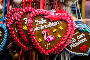 Munich traditional gingerbread at the Christmas market