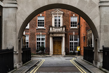London, United Kingdom, 11 November - Typical Street of London